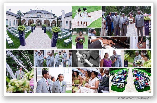 Outdoor wedding ceremony at Villa Serena