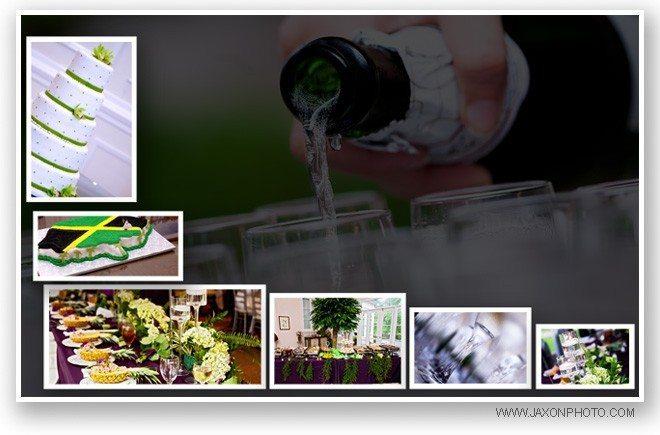Outdoor wedding reception at Villa Serena,