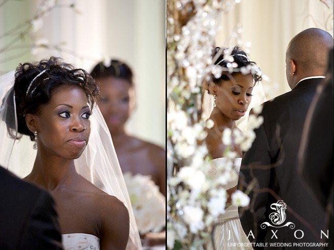 Couple exchanging wedding vows| Biltmore Ballrooms Real Wedding