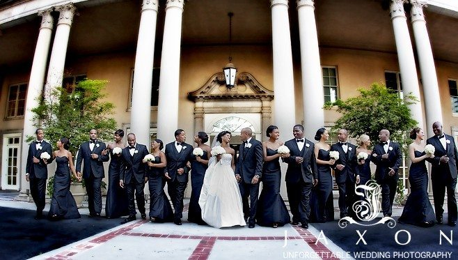 Wedding Party of 18 in front of the biltmore ballrooms | Biltmore Ballrooms Real wedding