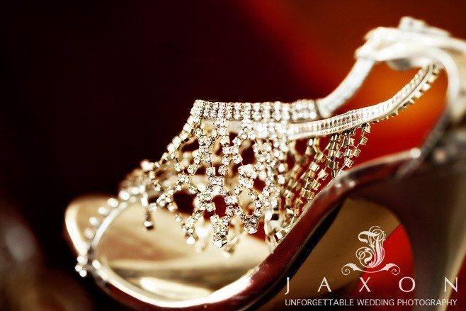 Kate spade bejeweled pumps at Ritz Carlton Atlanta Wedding