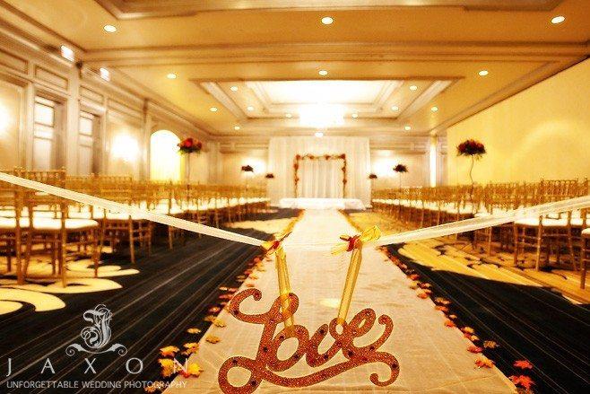 Ritz Carlton Atlanta Ballroom designed for the wedding ceremony