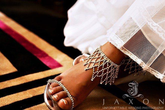 bejeweled wedding pumps