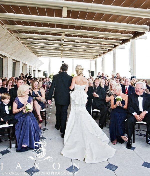 Rooftop Wedding ceremony | The Peachtree Club Atlanta