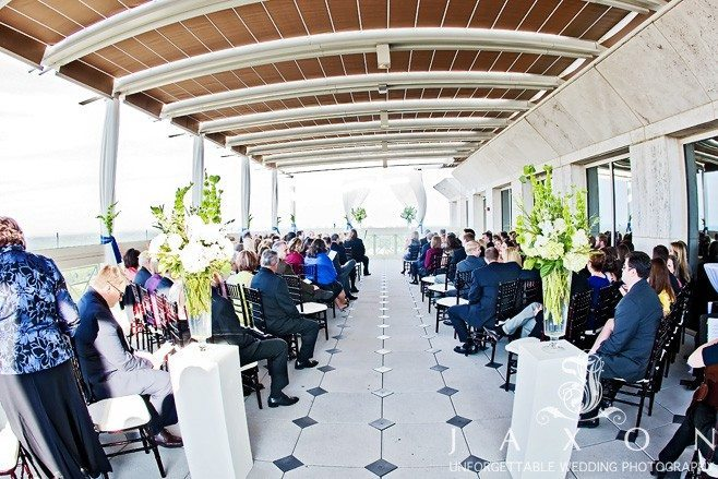 The rooftop Wedding Ceremony | Peachtree Club Rooftop Weddings