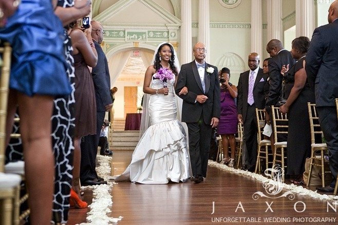Father escorts bride | Biltmore Ballrooms Aaliyah