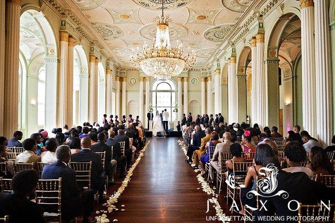 Wedding ceremony in the Georgian Ballroom | Biltmore Ballrooms Aaliyah