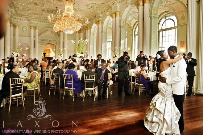 Couple dances their first dance at the biltmore