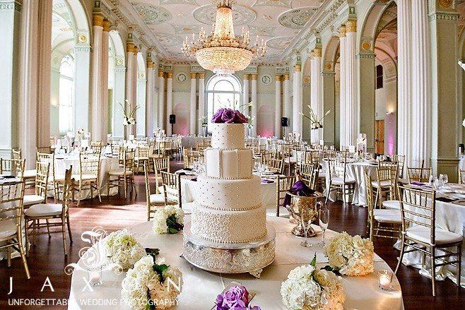 out tiered wedding cake in the georgian ballroom Biltmore Ballrooms Aaliyah