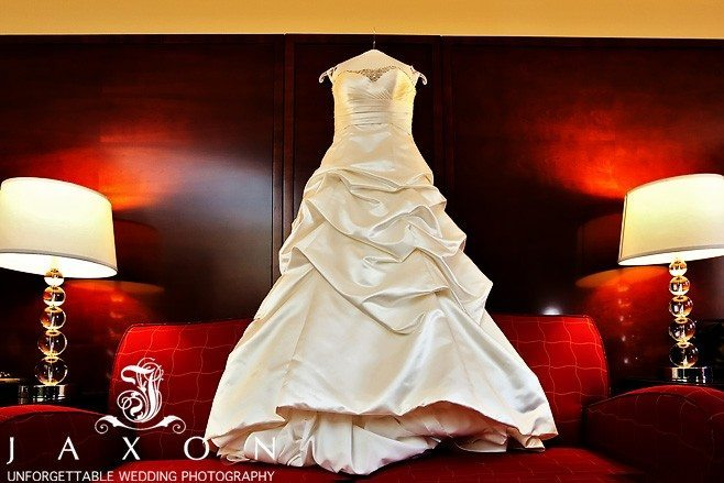 Wedding Dress having in the hall way Marriott Buckhead Wedding