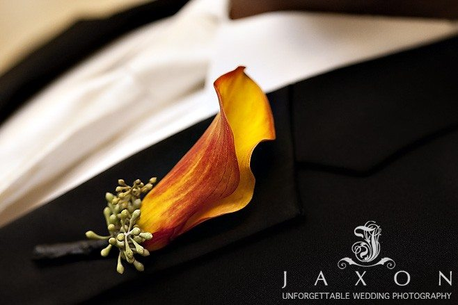 groom's boutonniere at Marriott Buckhead Wedding