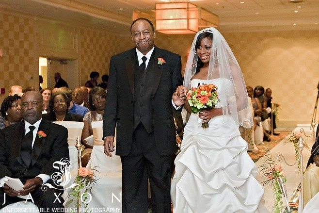 Bride and dad at Marriott Buckhead Wedding