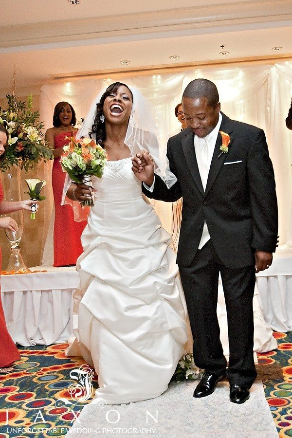 Jumping the broom at Marriott Buckhead Wedding