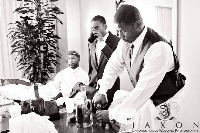 Relaxing before wedding