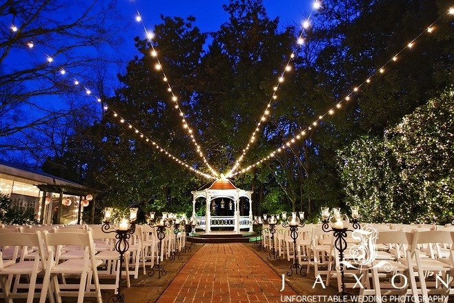 Flint Hill Wedding | The Flint Hill Gardens at Twilight