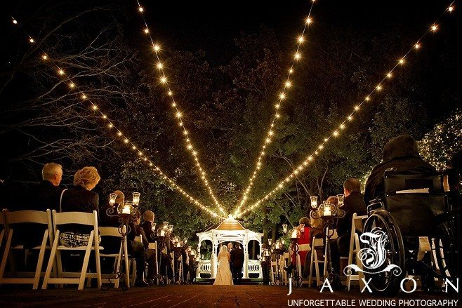 The Night time garden Wedding Ceremony at Flint Hill |Weddings at Flint Hill