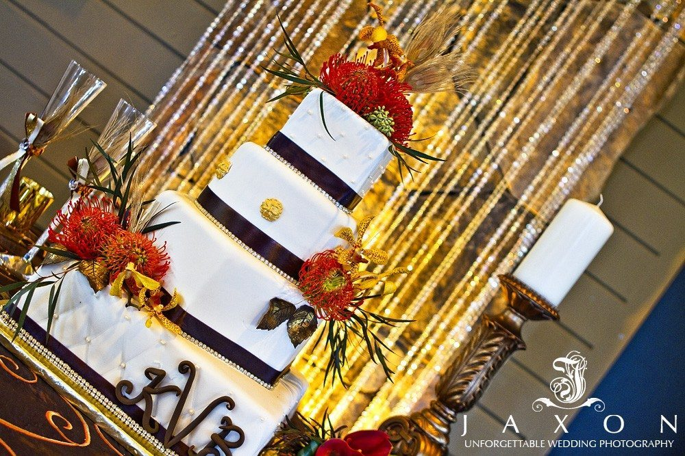 Four tiered wedding cake PineIsle Pointe | Lake Lanier Wedding