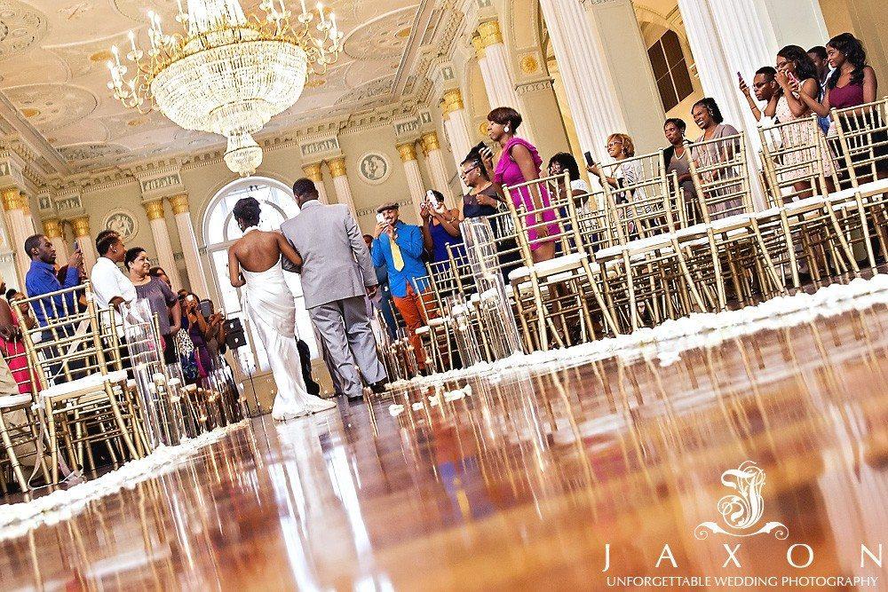 bride escorted into the georgian ballroom