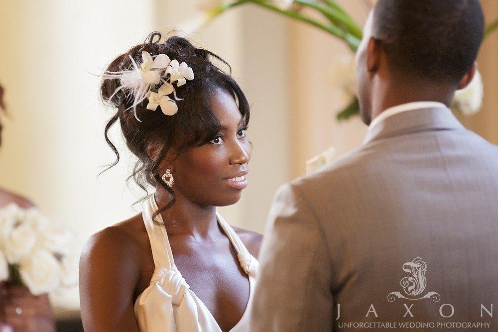 Wedding vows at their biltmore ballroom wedding