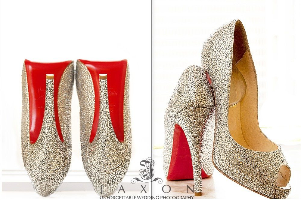 Christian Louboutin Very Riche Crystal Strass peep toe pumps