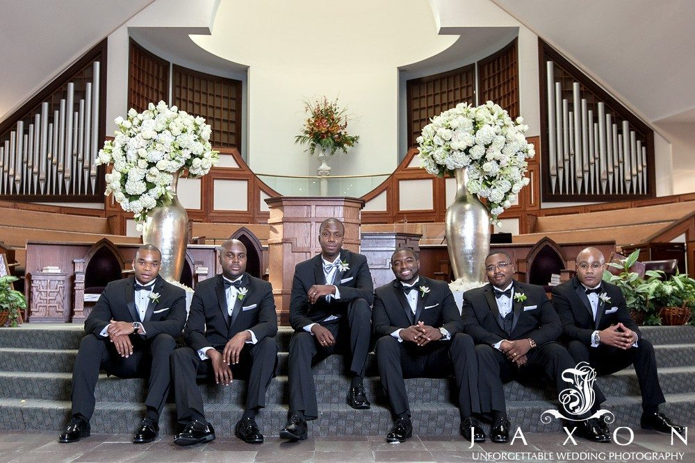 Ebenezer Baptist Church Wedding picture of the groom and party