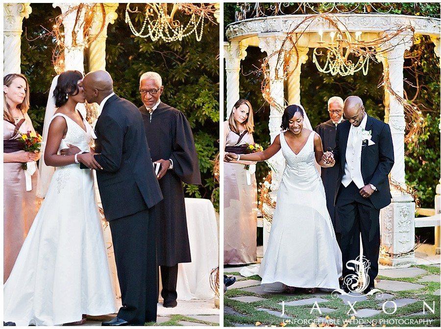 You mas kiss the bride and jump the broom | atrium norcross wedding