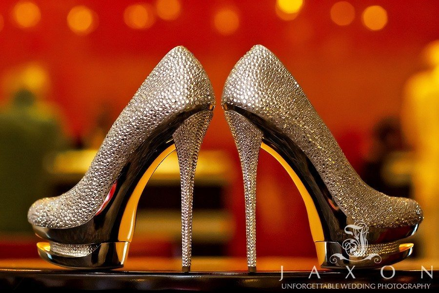 Gianmarco Lorenzi crystal pumps at the reception counter | Marriott Gateway Atlanta