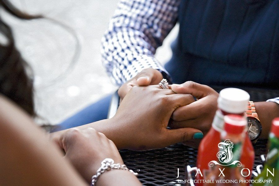 photo of couple's hands as they await their meal
