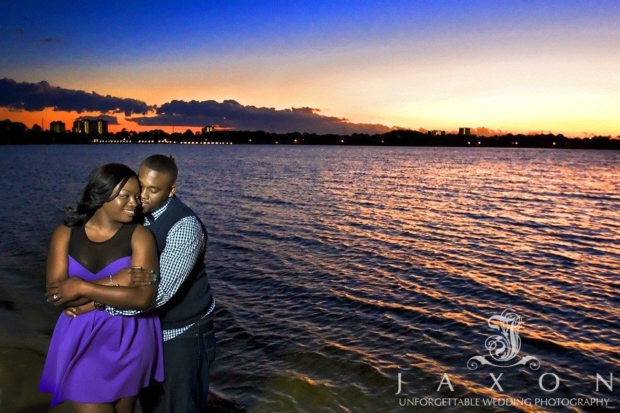 romantic sunset beach portrait on engaged couple at the Sandestin Resort in Destin FL