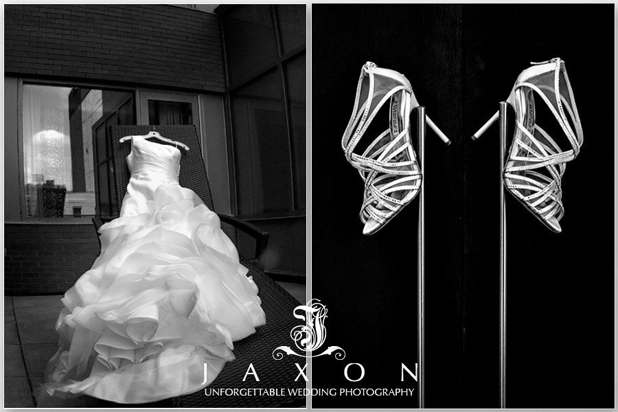 Brides gown and shoes at the Sheraton in Brooklyn, NY  The Riviera Wedding Brooklyn, NY