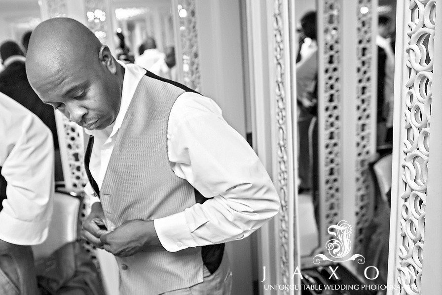Groom getting dressed at the Sheraton in Brooklyn, NY  The Riviera Brooklyn, NY