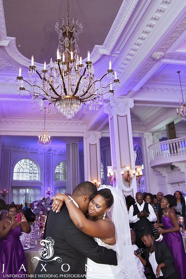 First Dance in the Grand Ballroom at their Georgian Terrace Wedding
