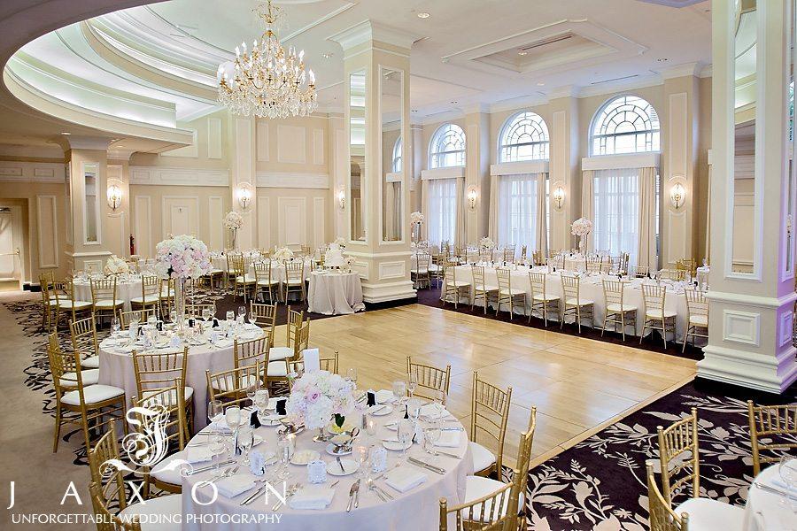 Piedmont Ballroom Set up for Wedding Reception