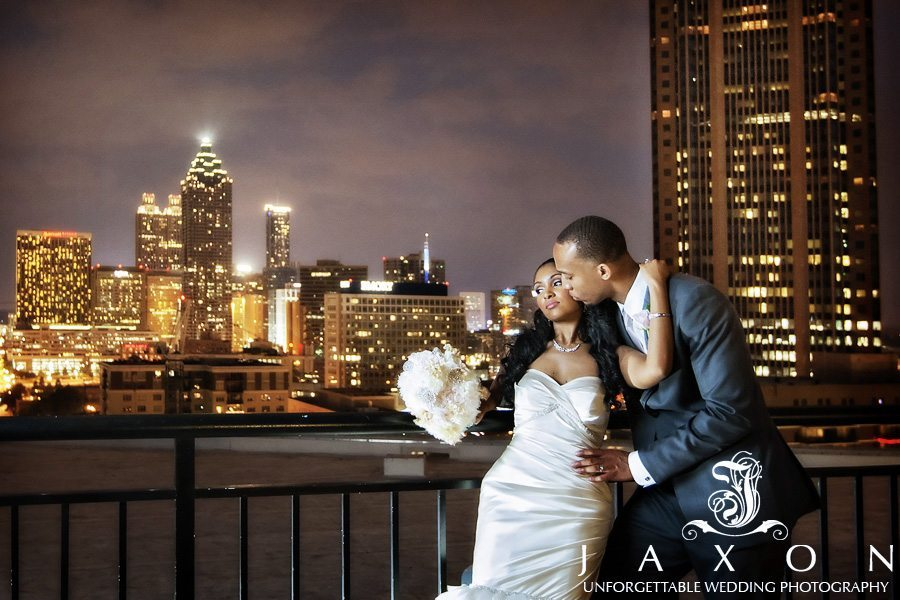 Roof top picture at the Georgian Terrace with the midtown skyline as a backdrop