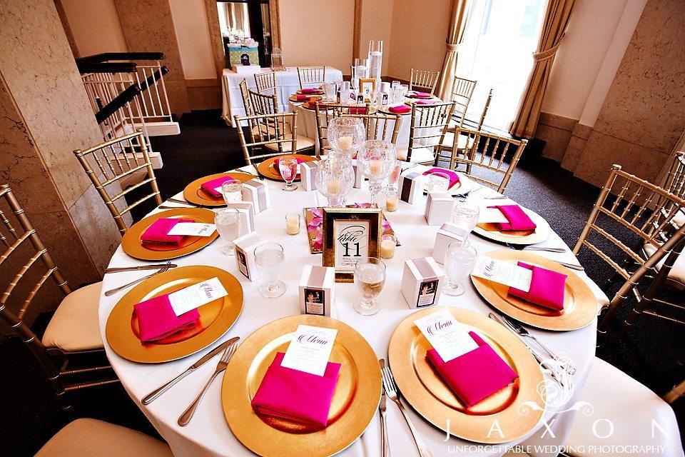 Table setting at The Venetian Room Atlanta wedding