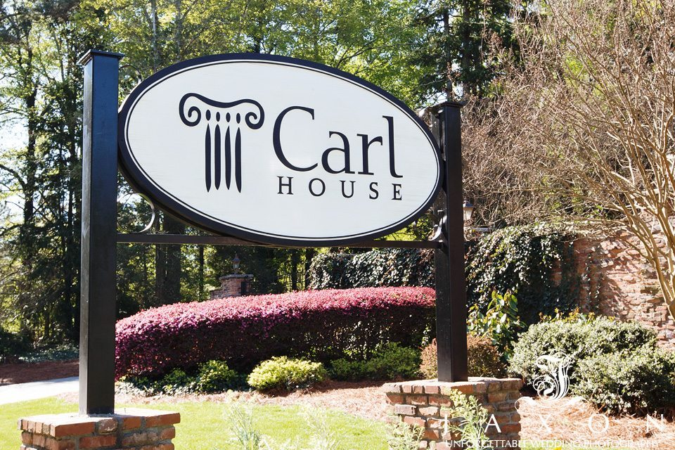 The exterior signage at The Carl House