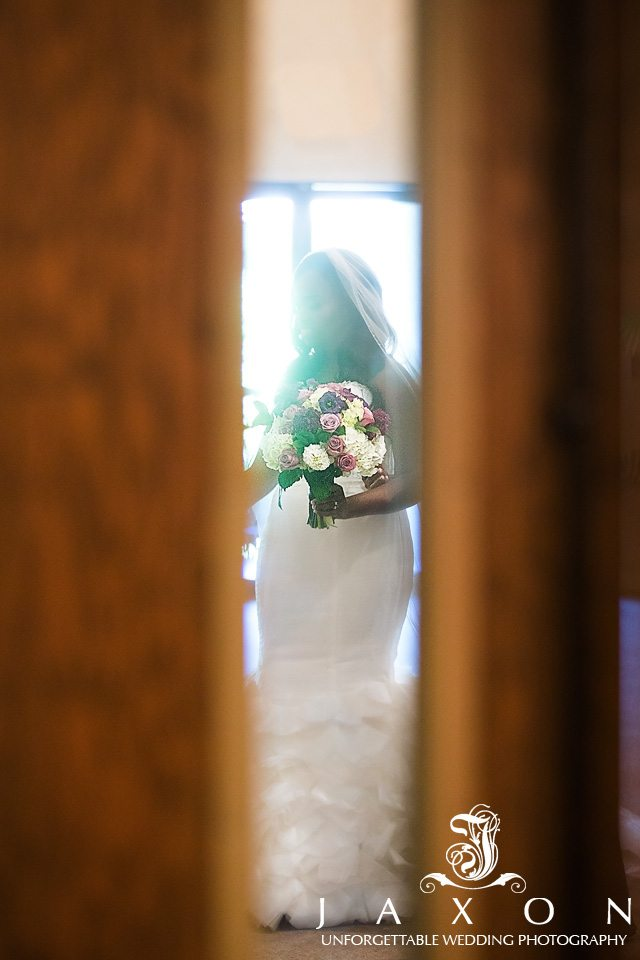Bride gets ready to enter her wedding ceremony at ATLANTA NORTH SEVENTH-DAY ADVENTIST CHURCH