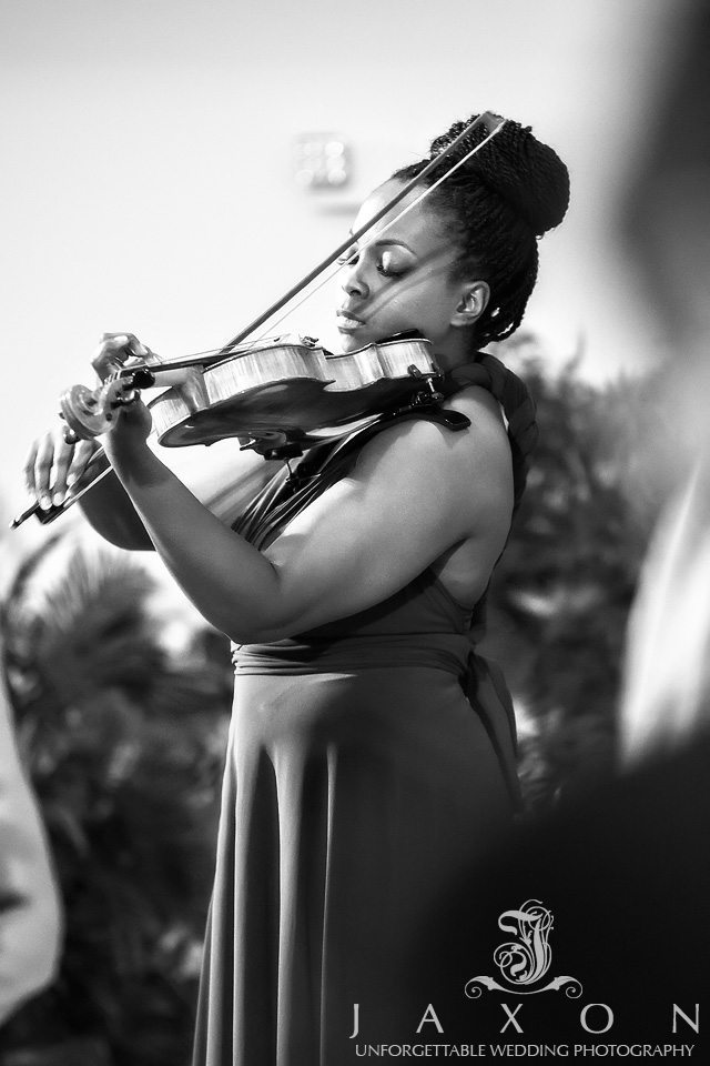Bride's sister serenades her on the viola as she enters her wedding ceremony at ATLANTA NORTH SEVENTH-DAY ADVENTIST CHURCH
