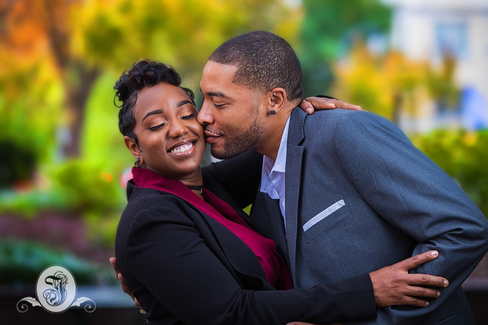 Fall engagement session in downtown Atlanta