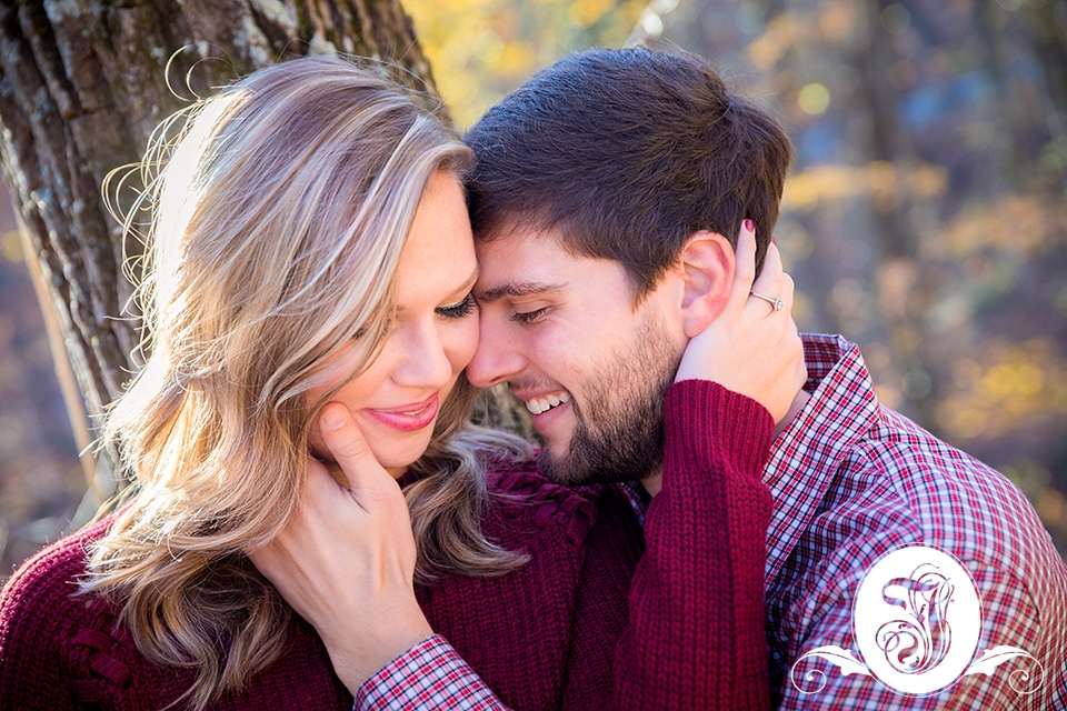Engagement portraits at Amicalola Falls