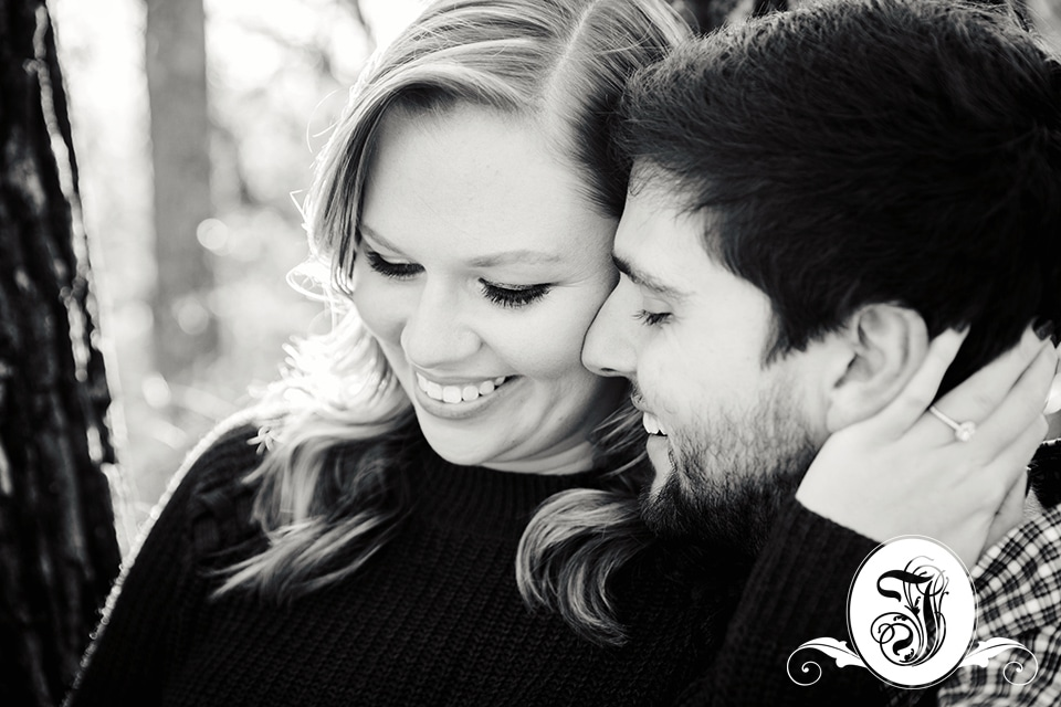Black and White romantic portrait