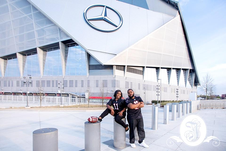Falcon Fans at Mercedes Benz Stadium in Atlanta