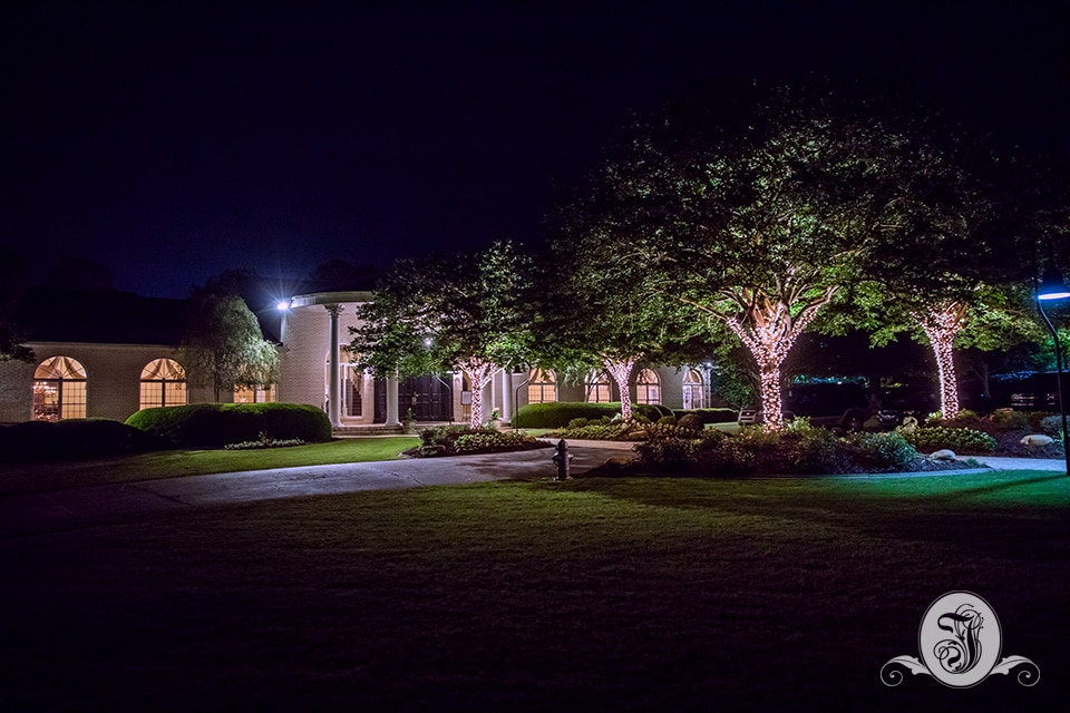 Vines Mansion at Nighttime