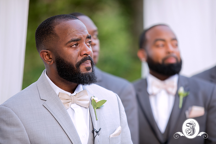Emotional Groom at Vines Mansion